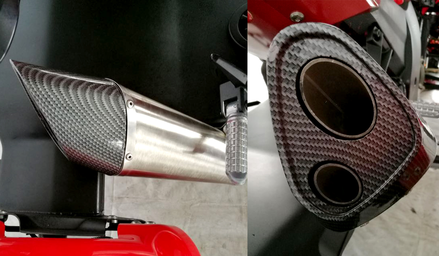 Twin Carbon Finished Exhaust 03